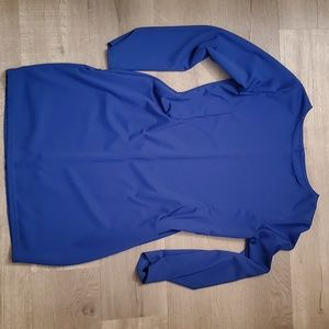 Long Sleeve Blue Dress with Pockets